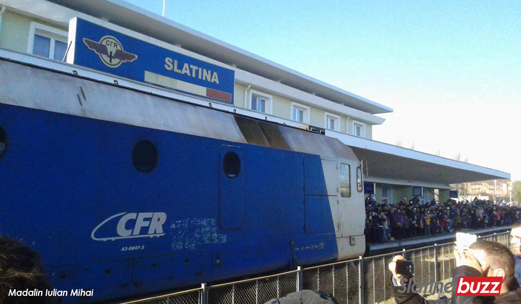tren regal gara slatina plecare