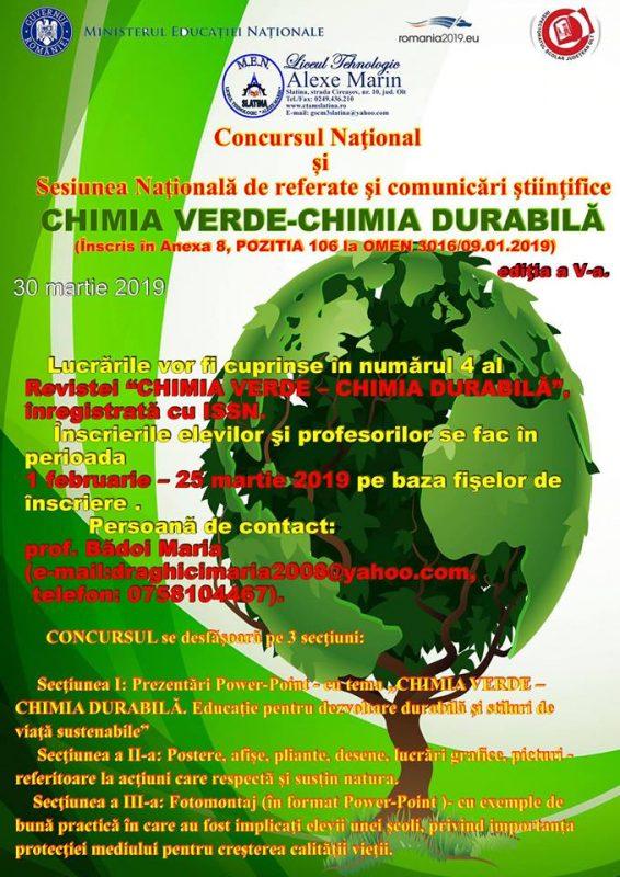 chimia verde alexe marin slatina