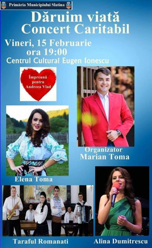 concert caritabil daruim viata slatina