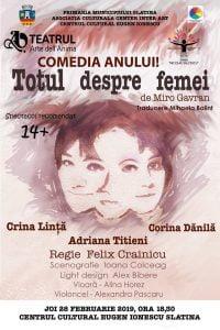 """Teatru: """"Totul despre femei"""" @ Centrul Cultural """"Eugen Ionescu"""""""
