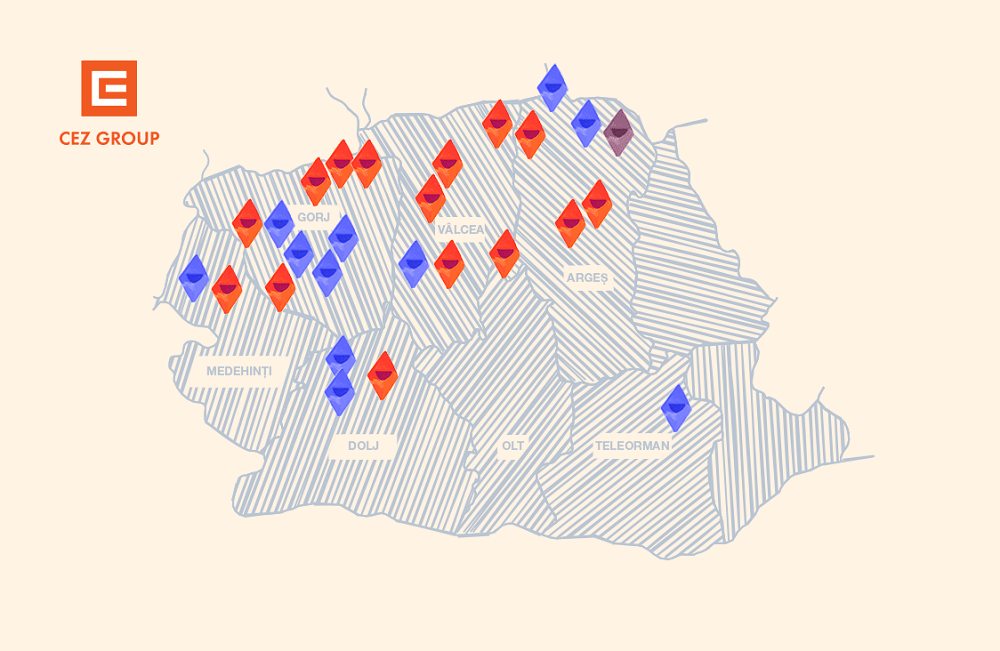 Harta proiect Cule in lumina